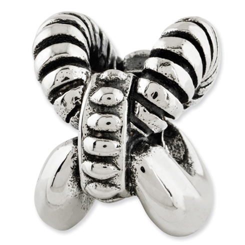 Sterling Silver Reflections Textured Bali Bead
