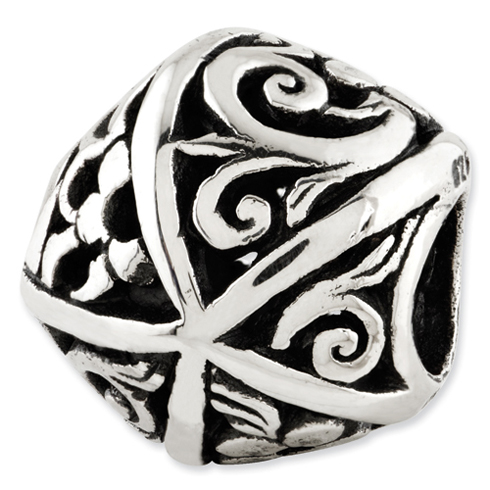 Sterling Silver Reflections Vines Flowers Bali Bead
