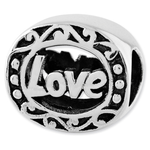 Sterling Silver Reflections Love Bead