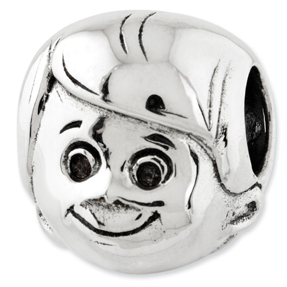 Sterling Silver Reflections Little Boy's Head Bead