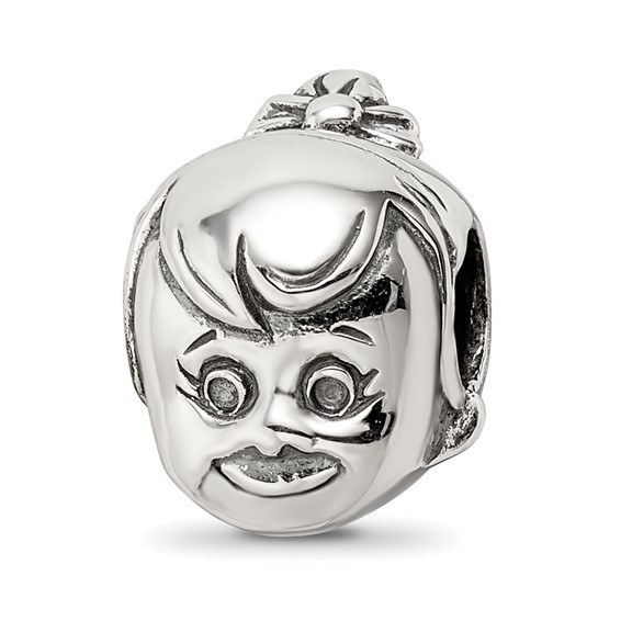Sterling Silver Reflections Little Girl's Head Bead
