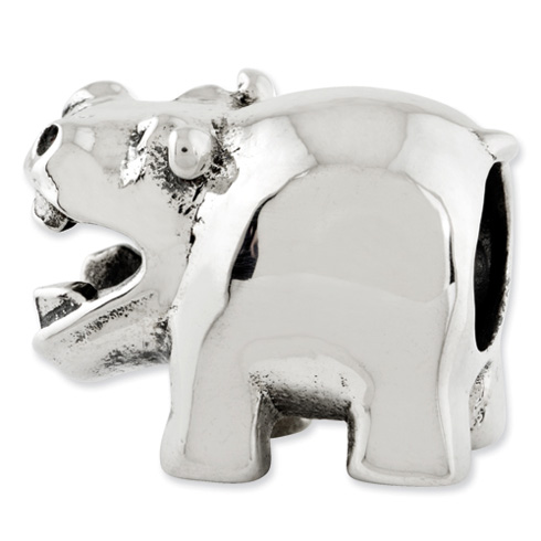 Sterling Silver Reflections Hippo Bead