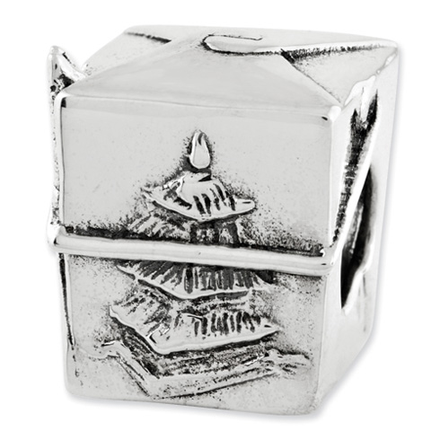 Sterling Silver Reflections Chinese Take Out Box Bead