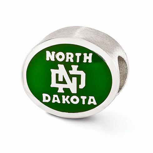 Sterling Silver Enameled University of North Dakota Bead