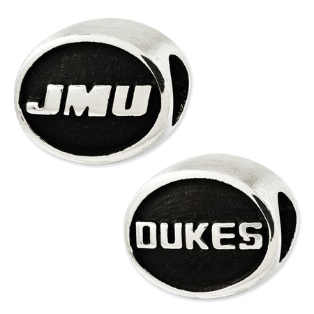 Sterling Silver James Madison University Dukes Bead