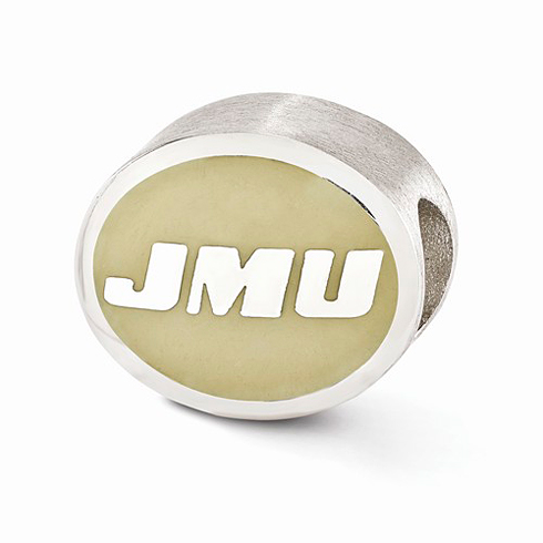Sterling Silver Enameled James Madison University Bead
