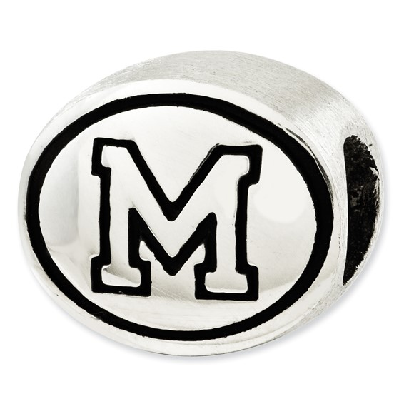 Sterling Silver University of Memphis Bead
