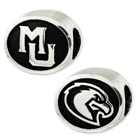 Sterling Silver Marquette University Bead