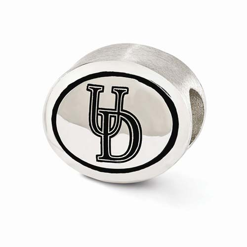 Sterling Silver University of Delaware Bead