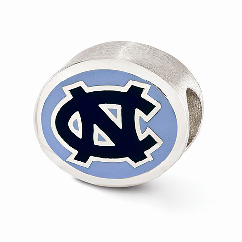 Sterling Silver Enameled University of North Carolina Bead
