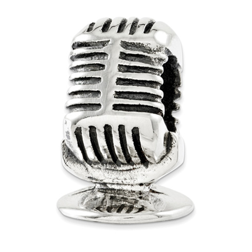 Sterling Silver Reflections Microphone Bead