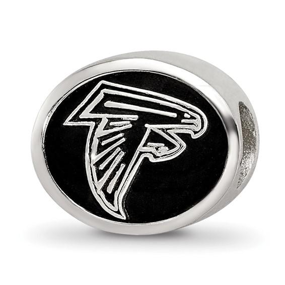 Sterling Silver Atlanta Falcons Charm Bead