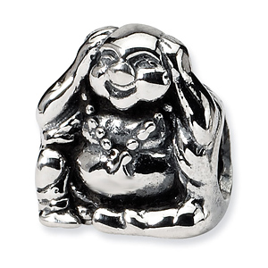 Sterling Silver Reflections Hear No Evil Buddha Bead