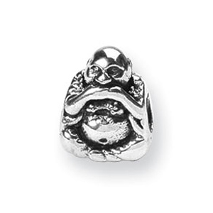 Sterling Silver Reflections Speak No Evil Buddha Bead