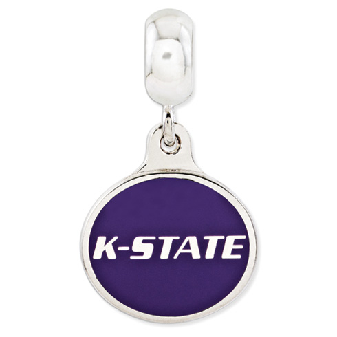 Kansas State University Dangle Bead