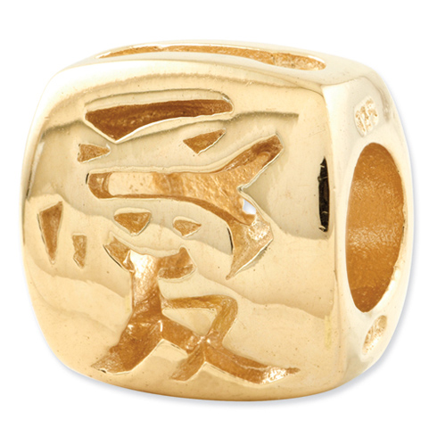 Sterling Silver Gold-plated Reflections Chinese Love Bead