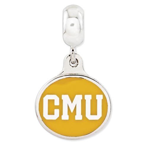 Central Michigan University Dangle Bead