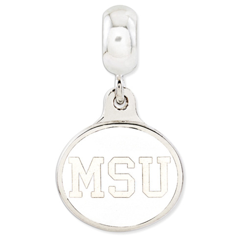 Michigan State University Dangle Bead