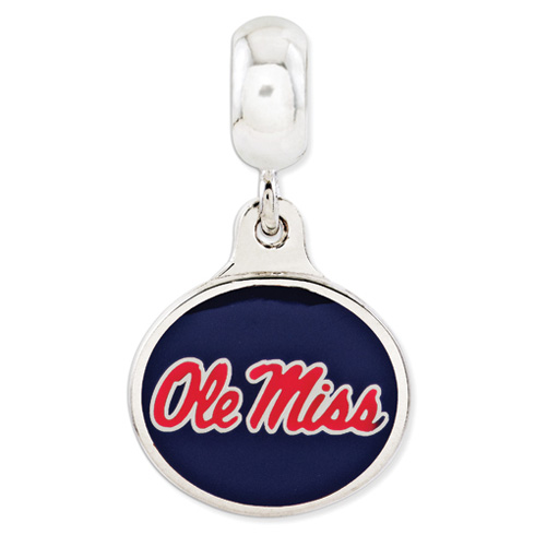 University of Mississippi Enamel Dangle Bead