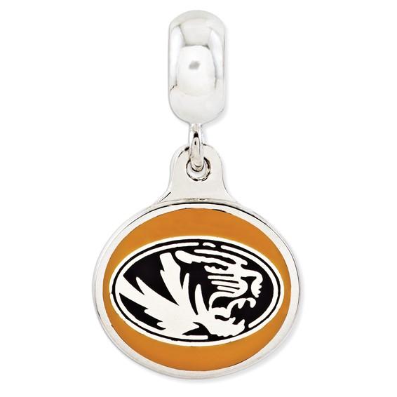 Sterling Silver University of Missouri Reversible Dangle Bead