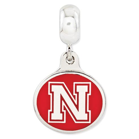 University of Nebraska Dangle Bead