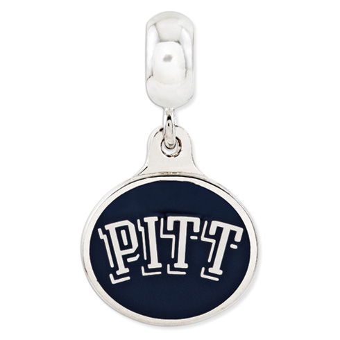 Sterling Silver University of Pittsburgh Dangle Bead