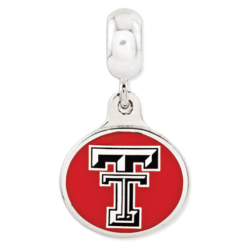 Texas Tech University Dangle Bead