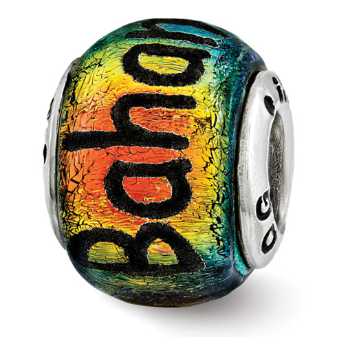 Sterling Silver Reflections Bahamas Dichroic Glass Bead