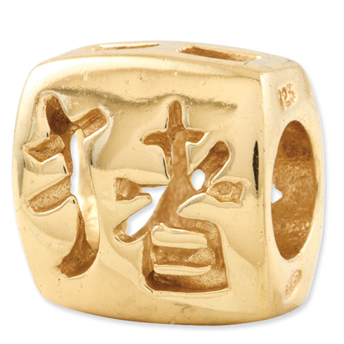 Sterling Silver Gold-plated Reflections Chinese Good Luck Bead