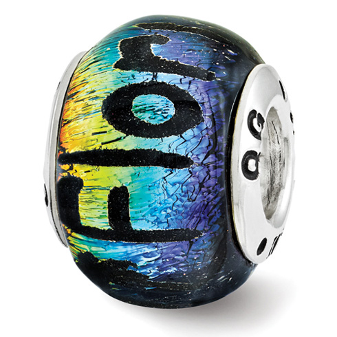 Sterling Silver Reflections Florida Dichroic Glass Bead