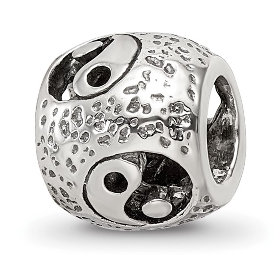 Sterling Silver Reflections Yin Yang Bead
