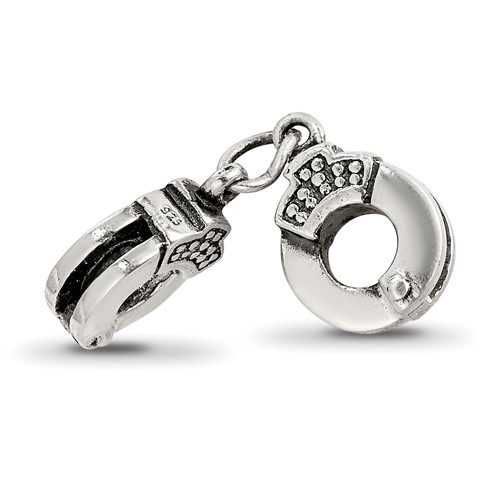 Sterling Silver Reflections Handcuffs Bead