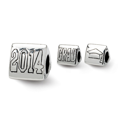 Sterling Silver Reflections Grad 2014 Trilogy Bead