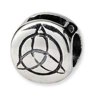 Sterling Silver Reflections Celtic Trinity Bead