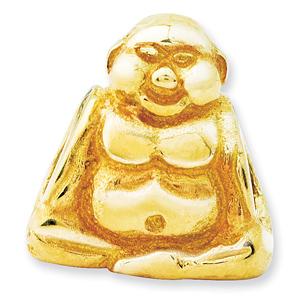 14kt Gold Reflections Buddha Bead