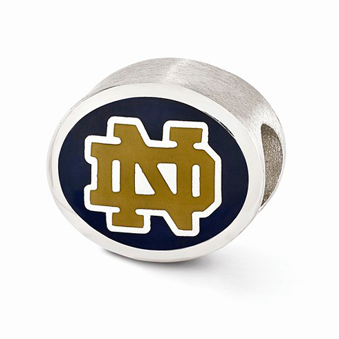 Sterling Silver Enameled University of Notre Dame ND Bead