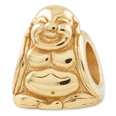 Sterling Silver Gold-plated Reflections Buddha Bead