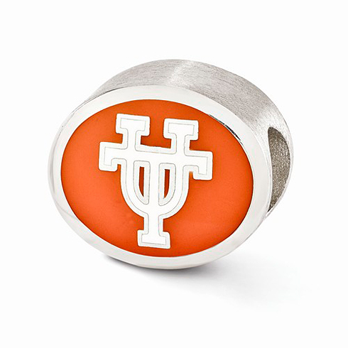 Sterling Silver Enameled University of Texas Bead