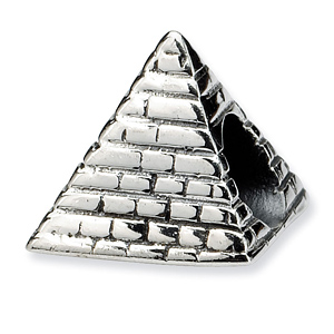 Sterling Silver Reflections Pyramid Bead