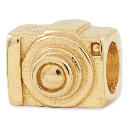 Sterling Silver Gold-plated Reflections Camera Bead