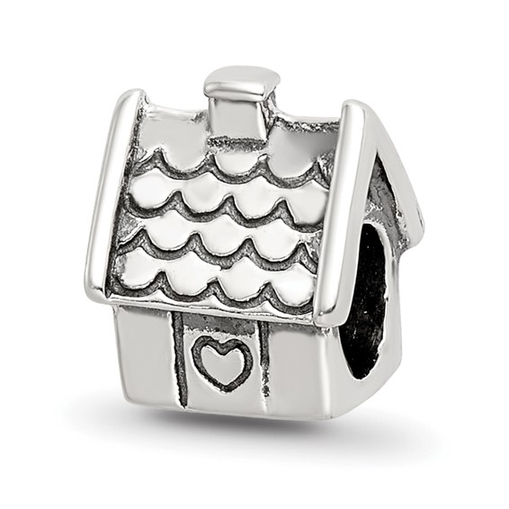 Sterling Silver Reflections House Bead