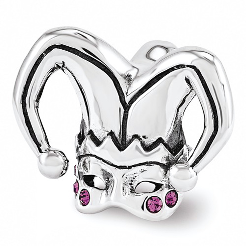 Sterling Silver Reflections Swarovski Jester Mask Bead
