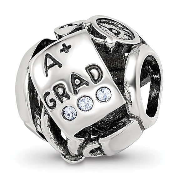 Sterling Silver Swarovski Graduation Collage Bead