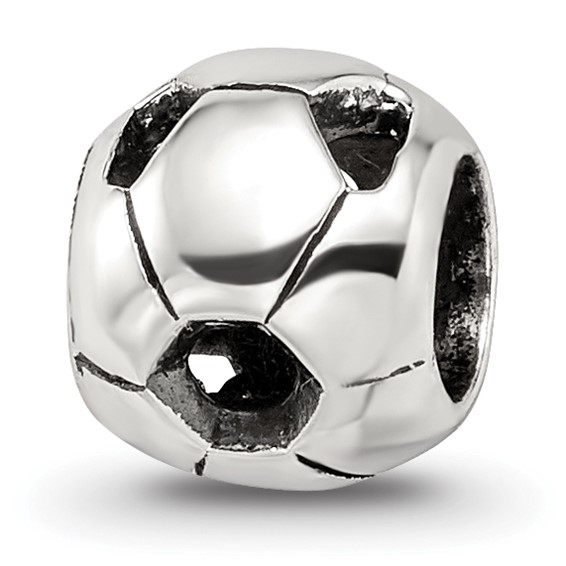 Sterling Silver Reflections Soccer Ball Bead