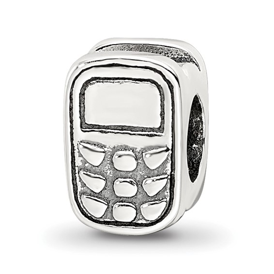 Sterling Silver Reflections Cell Phone Bead
