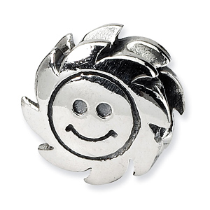 Sterling Silver Reflections Smiling Sun Bead