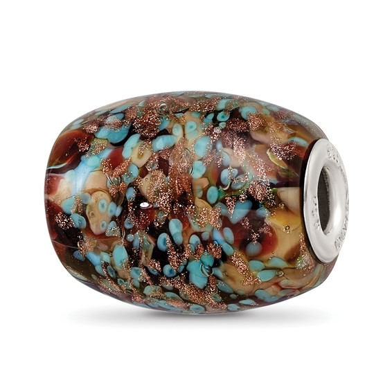 Sterling Silver Reflections Multi-color Glitter Desert Sunset Bead