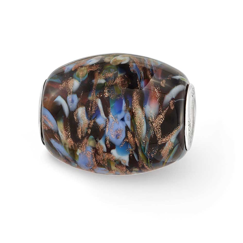 Sterling Silver Reflections Multi-color Glitter Country Girl Bead