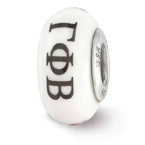 Sterling Silver Reflections Hand Painted Gamma Phi Beta Glass Bead