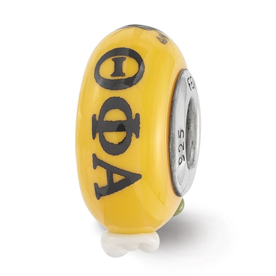 Sterling Silver Reflections Hand Painted Theta Phi Alpha Glass Bead